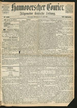 Hannoverscher Kurier on Jul 31, 1869