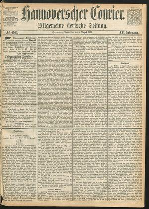 Hannoverscher Kurier vom 05.08.1869