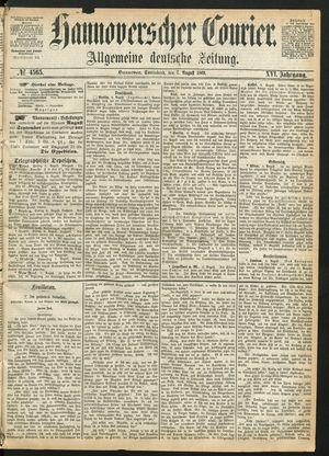 Hannoverscher Kurier vom 07.08.1869