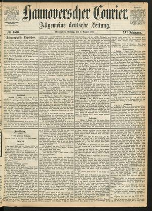 Hannoverscher Kurier vom 09.08.1869