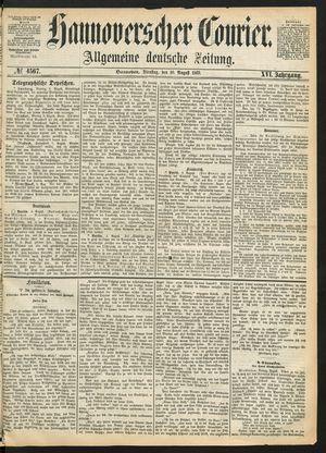 Hannoverscher Kurier vom 10.08.1869