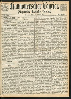 Hannoverscher Kurier vom 11.08.1869