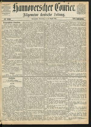 Hannoverscher Kurier on Aug 12, 1869