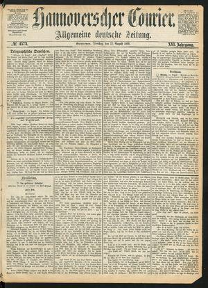Hannoverscher Kurier vom 17.08.1869