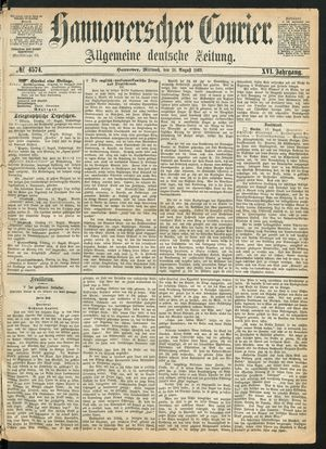 Hannoverscher Kurier vom 18.08.1869