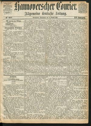 Hannoverscher Kurier vom 21.08.1869