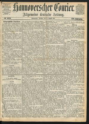 Hannoverscher Kurier vom 24.08.1869