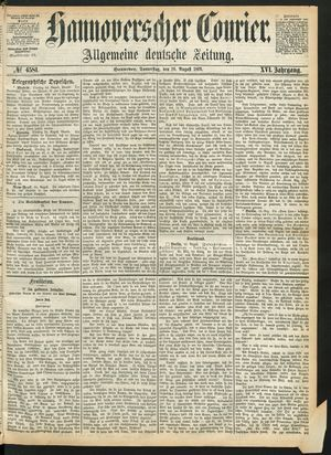 Hannoverscher Kurier vom 26.08.1869