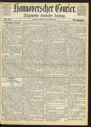 Hannoverscher Kurier on Aug 27, 1869