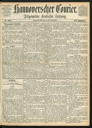 Hannoverscher Kurier vom 30.08.1869