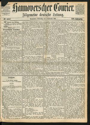 Hannoverscher Kurier on Sep 2, 1869