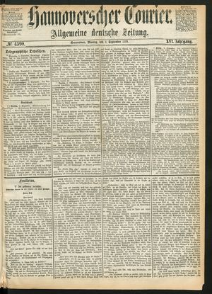 Hannoverscher Kurier vom 06.09.1869