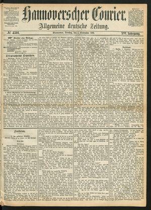 Hannoverscher Kurier vom 07.09.1869