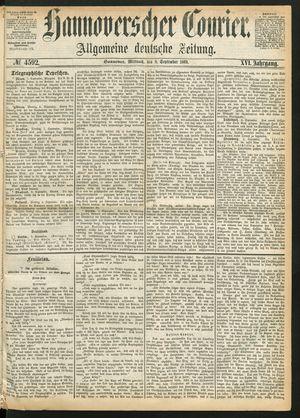 Hannoverscher Kurier vom 08.09.1869