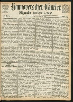 Hannoverscher Kurier vom 10.09.1869