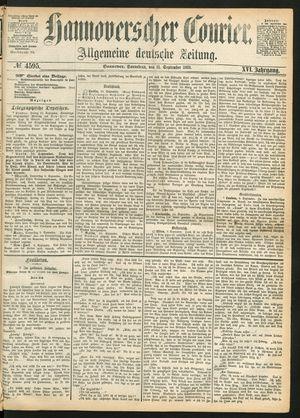 Hannoverscher Kurier vom 11.09.1869