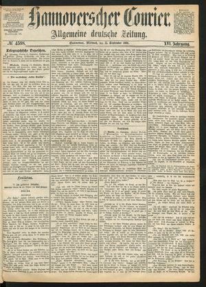 Hannoverscher Kurier vom 15.09.1869