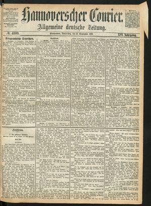 Hannoverscher Kurier vom 16.09.1869