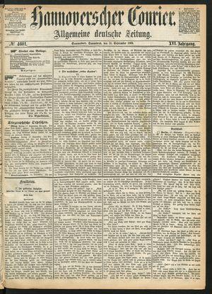 Hannoverscher Kurier vom 18.09.1869