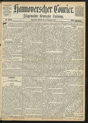 Hannoverscher Kurier vom 20.09.1869