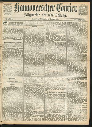 Hannoverscher Kurier vom 22.09.1869