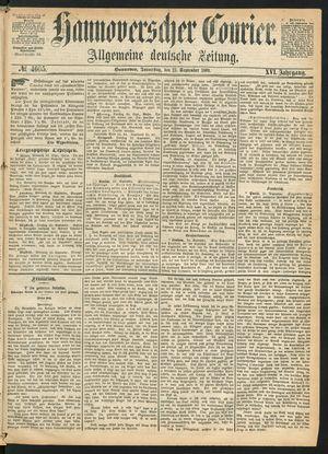 Hannoverscher Kurier vom 23.09.1869