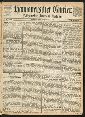 Hannoverscher Kurier vom 24.09.1869