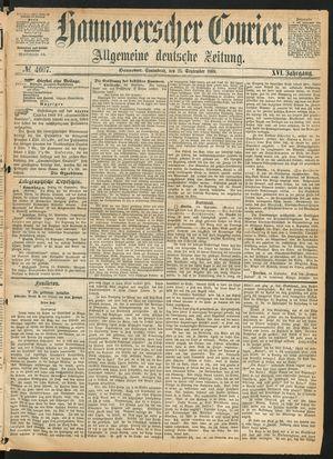 Hannoverscher Kurier vom 25.09.1869