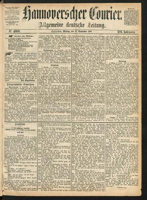 Hannoverscher Kurier vom 27.09.1869