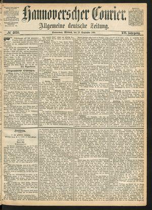 Hannoverscher Kurier vom 29.09.1869