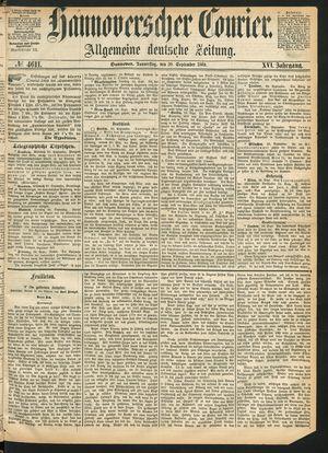 Hannoverscher Kurier on Sep 30, 1869