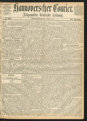 Hannoverscher Kurier vom 01.10.1869
