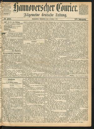 Hannoverscher Kurier vom 02.10.1869