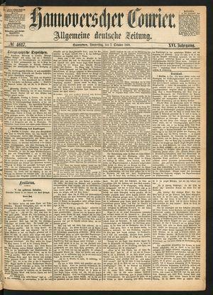 Hannoverscher Kurier vom 07.10.1869