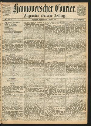 Hannoverscher Kurier vom 09.10.1869