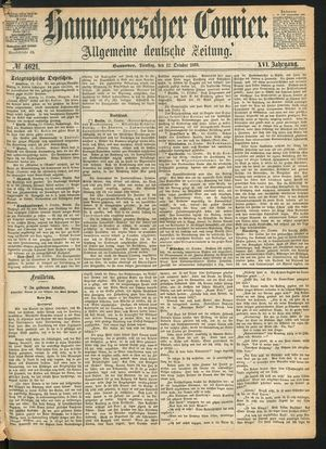 Hannoverscher Kurier vom 12.10.1869