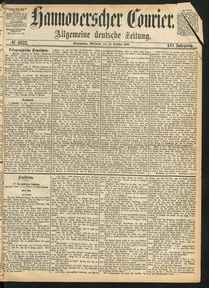 Hannoverscher Kurier vom 13.10.1869