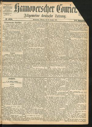 Hannoverscher Kurier vom 18.10.1869