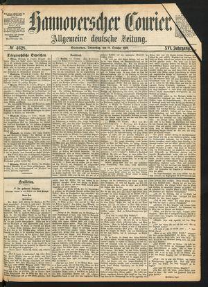 Hannoverscher Kurier vom 21.10.1869
