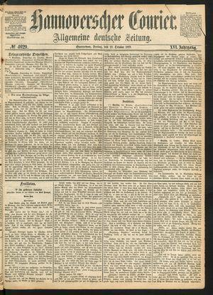 Hannoverscher Kurier vom 22.10.1869