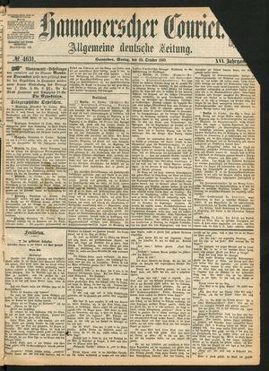 Hannoverscher Kurier on Oct 25, 1869