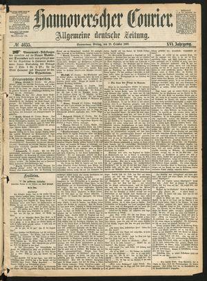 Hannoverscher Kurier vom 29.10.1869