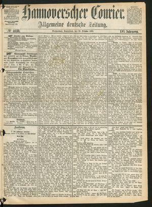 Hannoverscher Kurier vom 30.10.1869