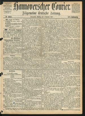 Hannoverscher Kurier vom 01.11.1869