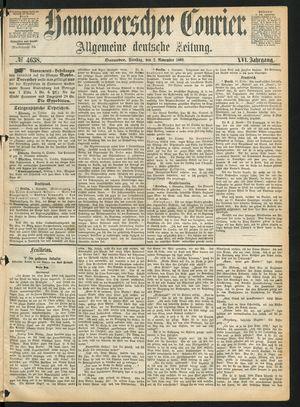 Hannoverscher Kurier vom 02.11.1869