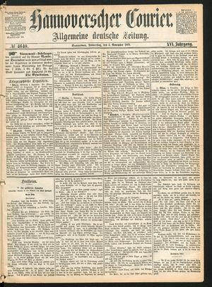 Hannoverscher Kurier vom 04.11.1869
