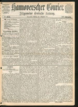 Hannoverscher Kurier vom 08.11.1869