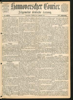 Hannoverscher Kurier vom 09.11.1869