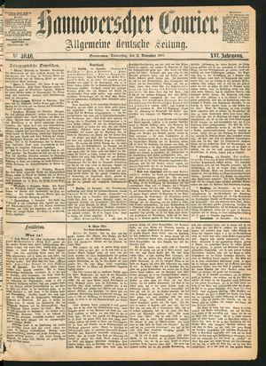 Hannoverscher Kurier vom 11.11.1869