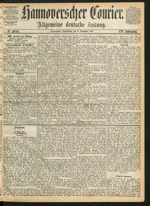 Hannoverscher Kurier vom 13.11.1869